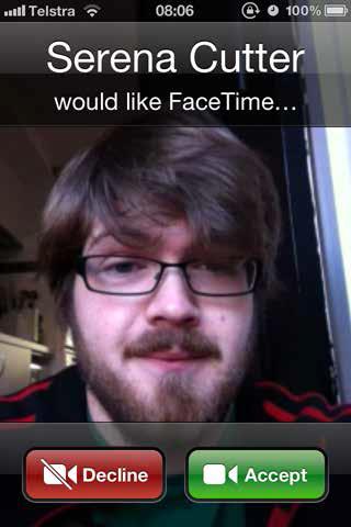 accept facetime call