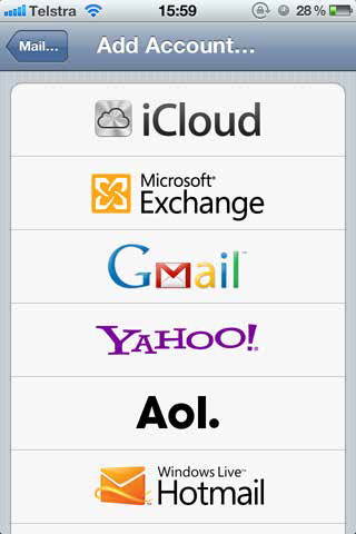 add email acount in ios