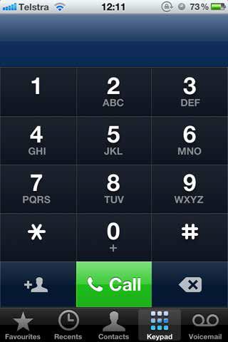 dialing screen