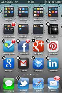 ios icons shaking