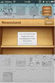 ios newstand