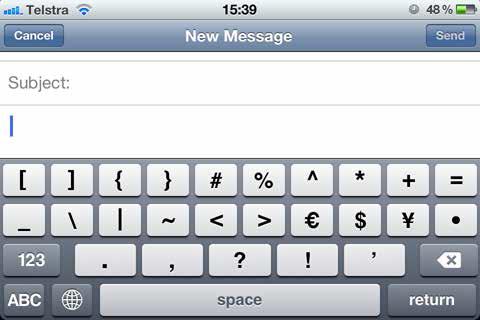 new message symbols