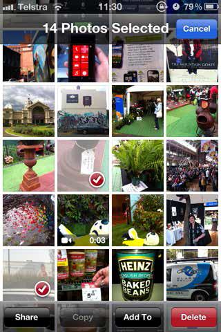 photos selected
