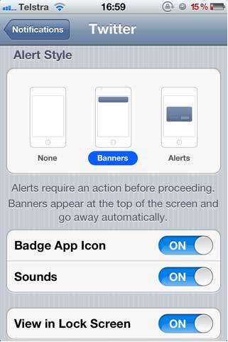 setting notifications